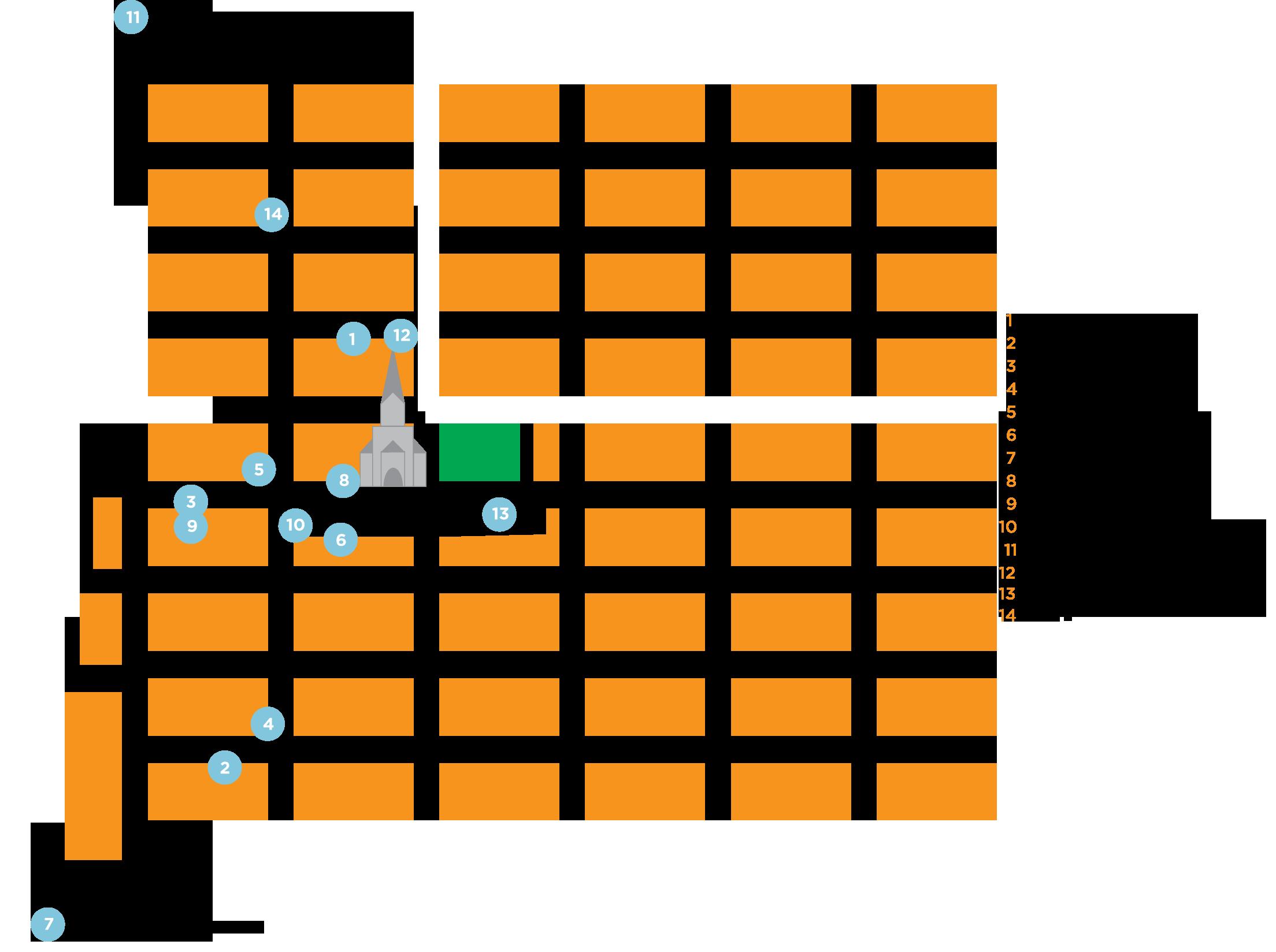 kart kvadraturen Kart Kulturnatta 2014 – Kulturnatta kart kvadraturen